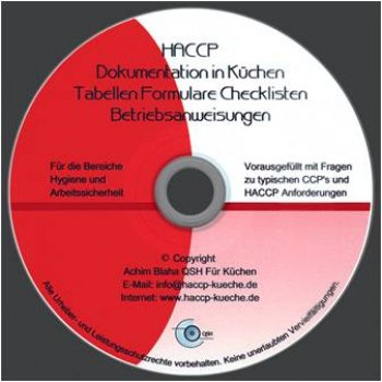 HACCP Hygieneschulung & Dokumentation CD Set